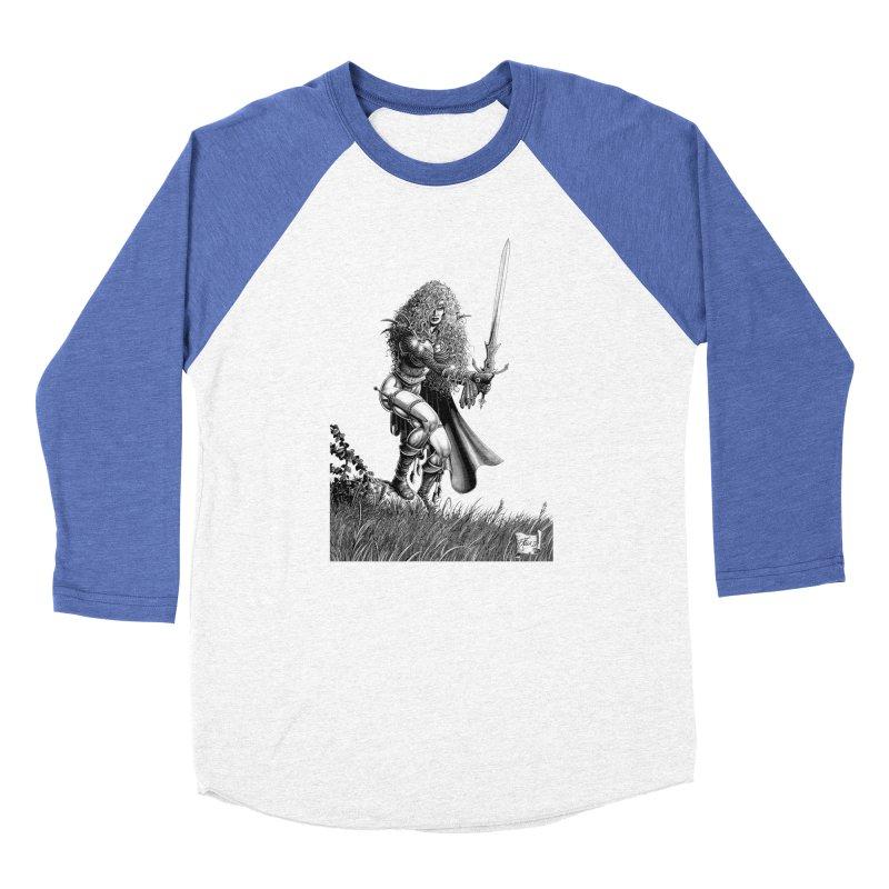 She-Warrior (gray) Women's Baseball Triblend T-Shirt by Ferran Xalabarder's Artist Shop