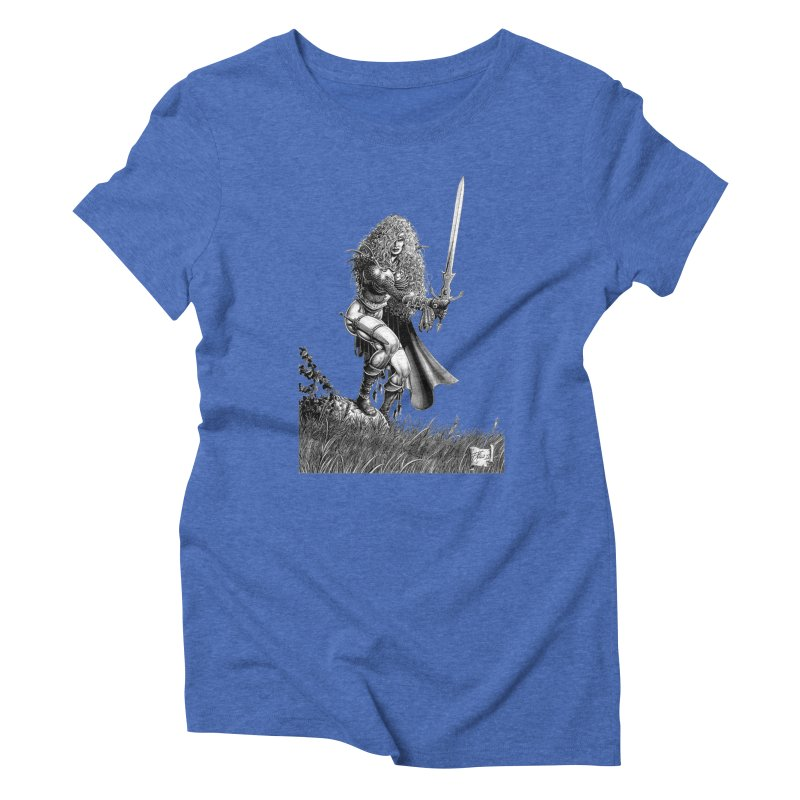 She-Warrior (gray) Women's Triblend T-Shirt by Ferran Xalabarder's Artist Shop