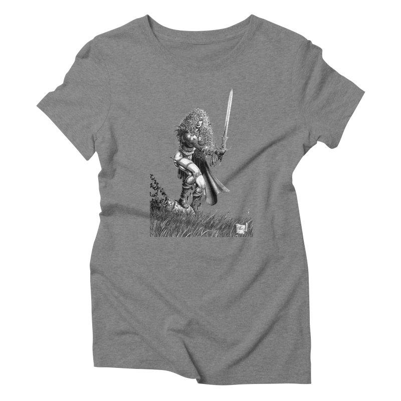 She-Warrior (gray) Women's Triblend T-Shirt by Ferran Xalabarder's Artist Shop