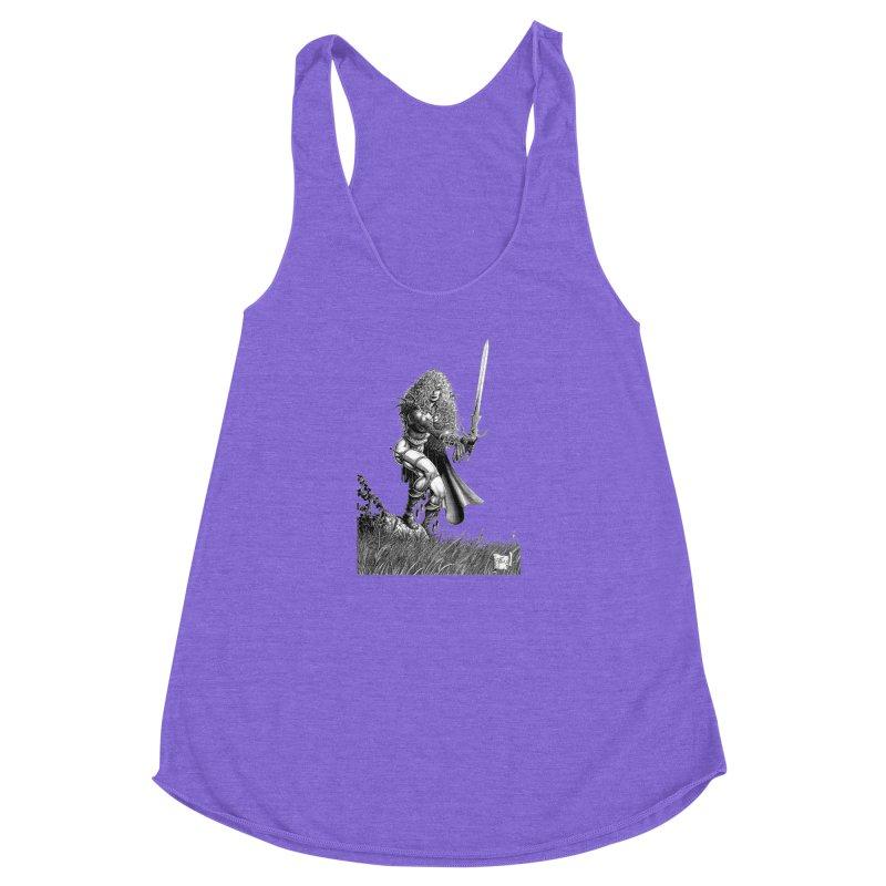 She-Warrior (gray) Women's Racerback Triblend Tank by Ferran Xalabarder's Artist Shop