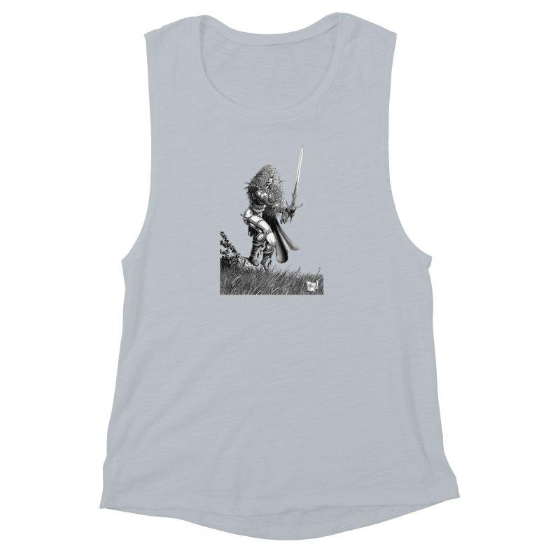 She-Warrior (gray) Women's Muscle Tank by Ferran Xalabarder's Artist Shop