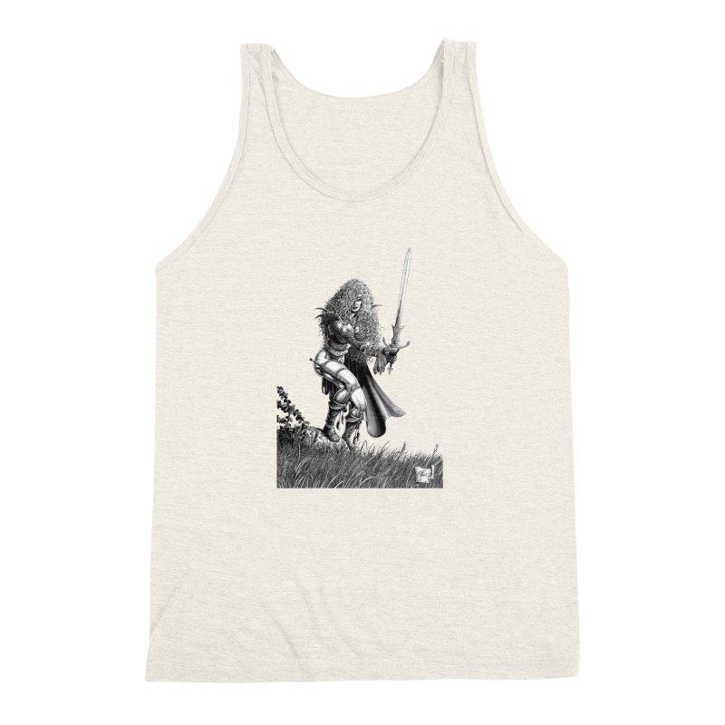 She-Warrior (gray) Men's Triblend Tank by Ferran Xalabarder's Artist Shop