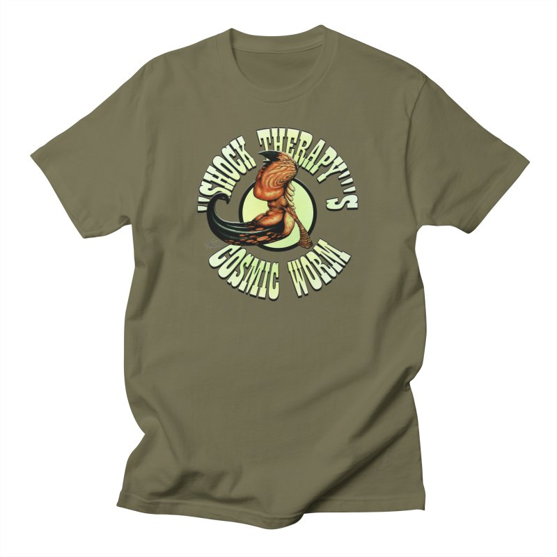 """""""Shock Therapy""""'s Cosmic Worm (lettered) Men's T-Shirt by Ferran Xalabarder's Artist Shop"""