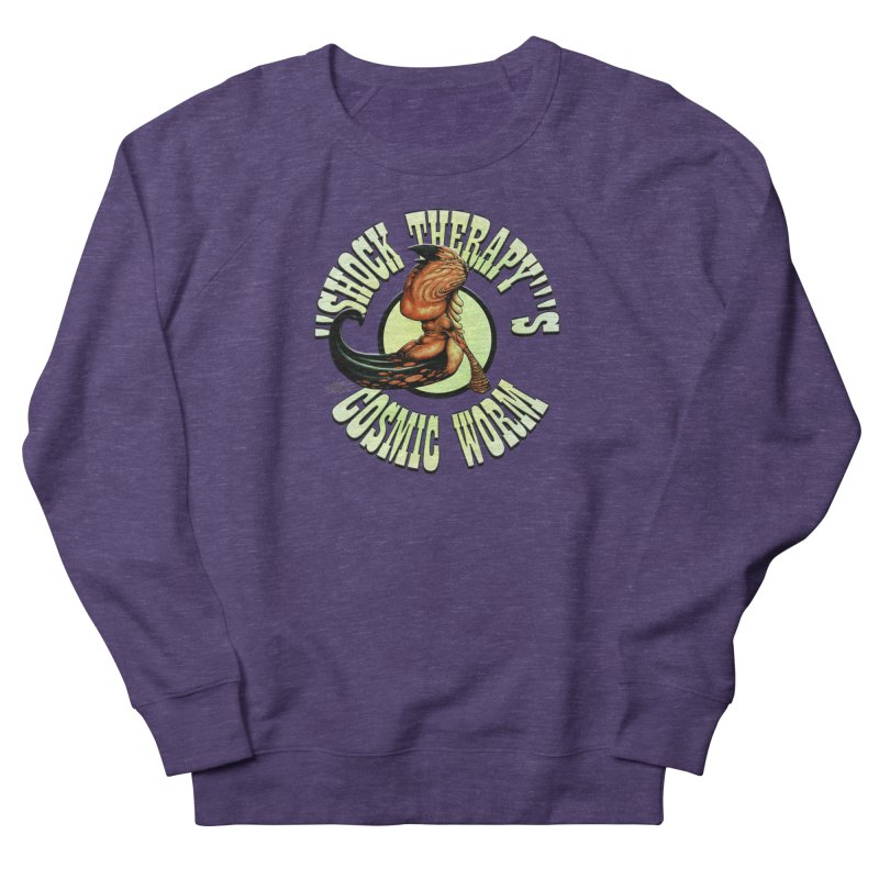 """""""Shock Therapy""""'s Cosmic Worm (lettered) Men's French Terry Sweatshirt by Ferran Xalabarder's Artist Shop"""