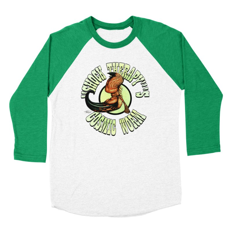 """Shock Therapy""'s Cosmic Worm (lettered) Women's Baseball Triblend Longsleeve T-Shirt by Ferran Xalabarder's Artist Shop"