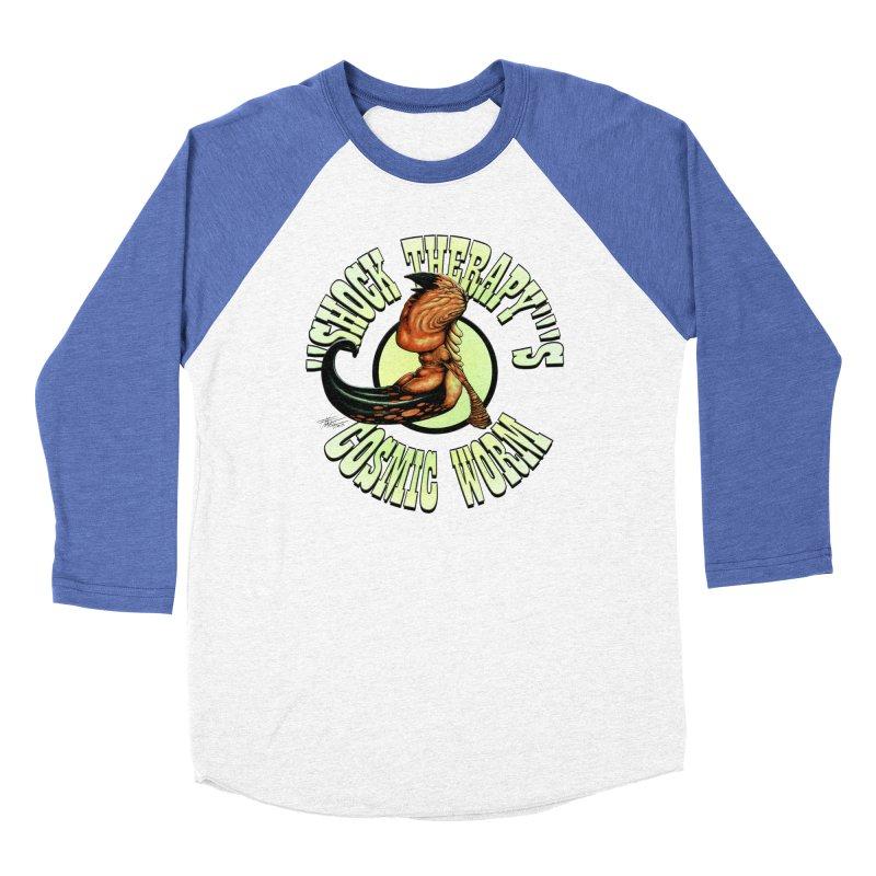 """Shock Therapy""'s Cosmic Worm (lettered) Men's Baseball Triblend Longsleeve T-Shirt by Ferran Xalabarder's Artist Shop"