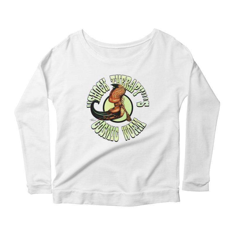 """Shock Therapy""'s Cosmic Worm (lettered) Women's Scoop Neck Longsleeve T-Shirt by Ferran Xalabarder's Artist Shop"
