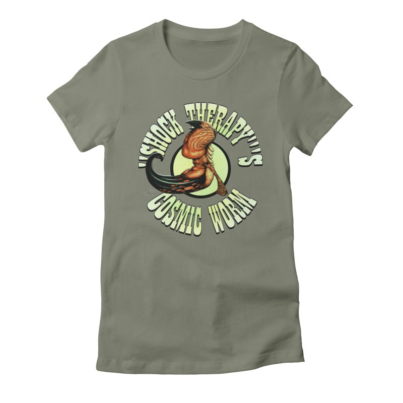 """""""Shock Therapy""""'s Cosmic Worm (lettered) Women's T-Shirt by Ferran Xalabarder's Artist Shop"""