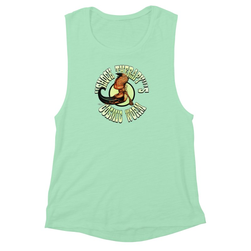 """Shock Therapy""'s Cosmic Worm (lettered) Women's Muscle Tank by Ferran Xalabarder's Artist Shop"