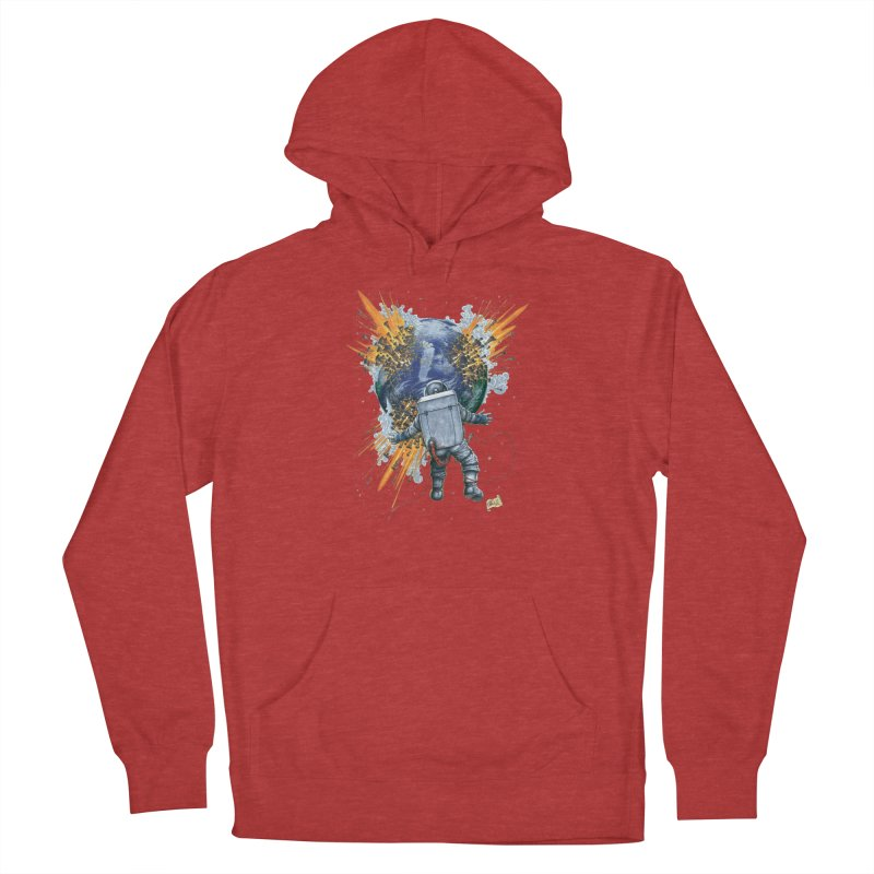 A Space Trifle Men's French Terry Pullover Hoody by Ferran Xalabarder's Artist Shop