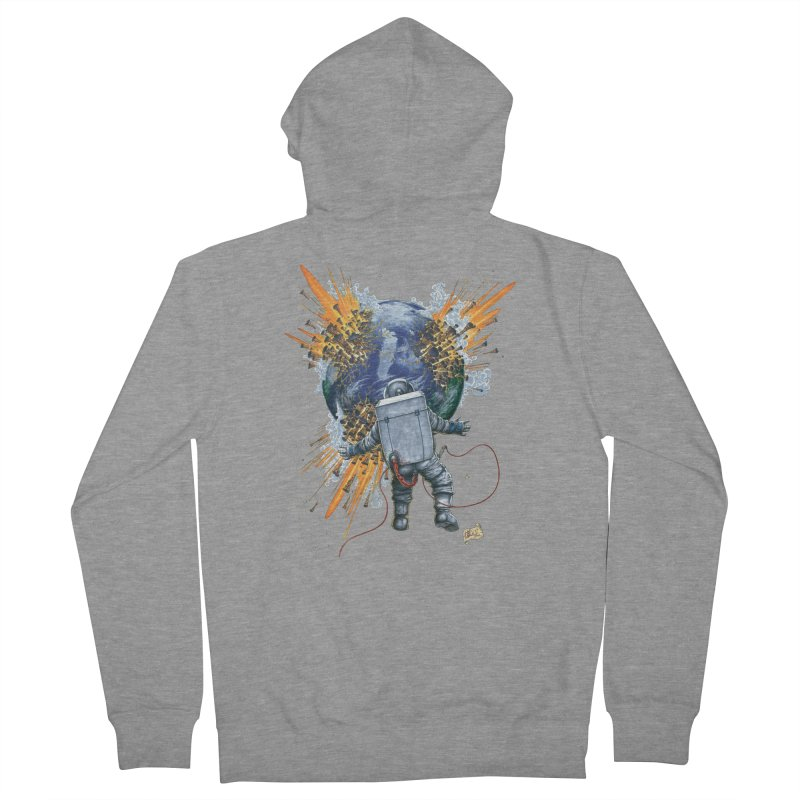 A Space Trifle Women's French Terry Zip-Up Hoody by Ferran Xalabarder's Artist Shop