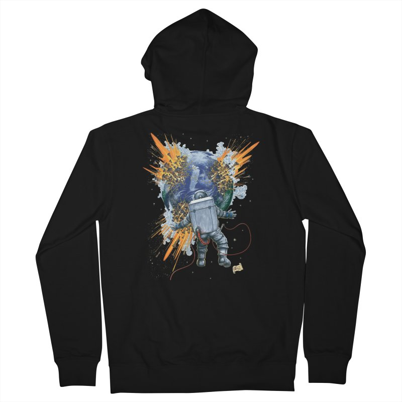 A Space Trifle Men's Zip-Up Hoody by Ferran Xalabarder's Artist Shop