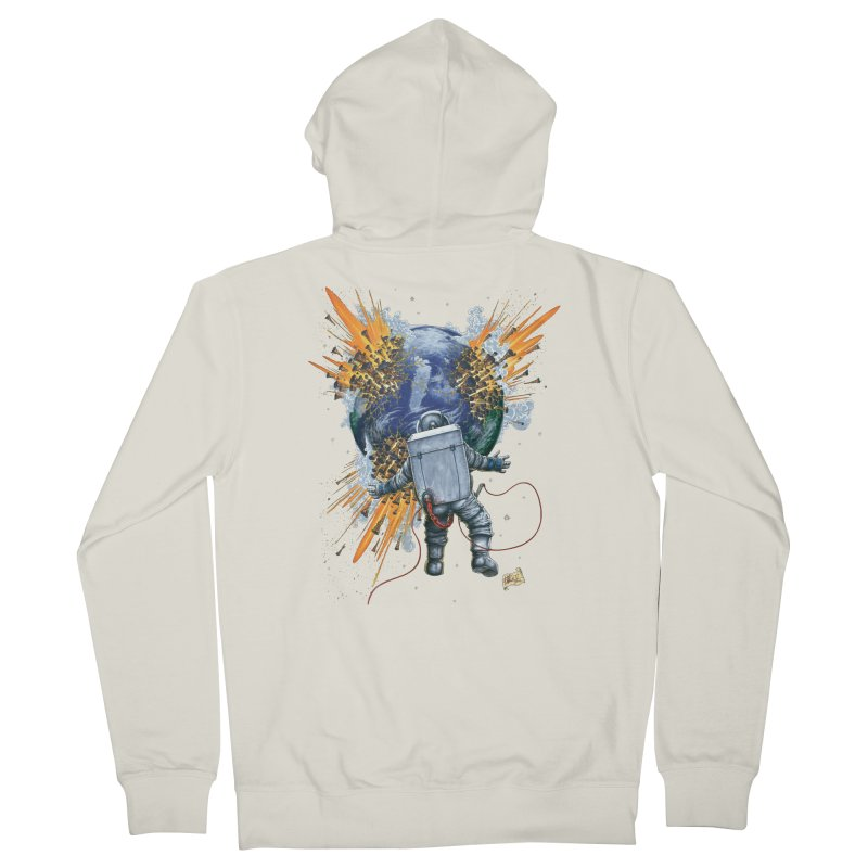 A Space Trifle Men's French Terry Zip-Up Hoody by Ferran Xalabarder's Artist Shop
