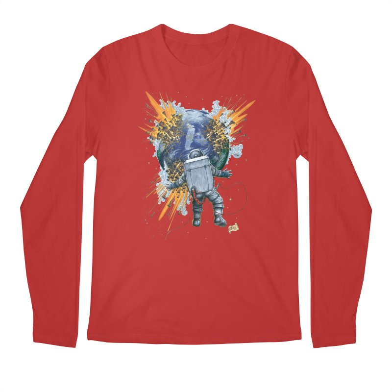 A Space Trifle Men's Regular Longsleeve T-Shirt by Ferran Xalabarder's Artist Shop