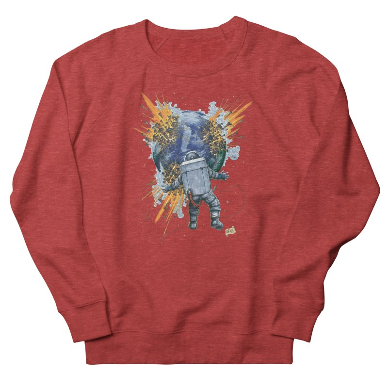 A Space Trifle Men's French Terry Sweatshirt by Ferran Xalabarder's Artist Shop