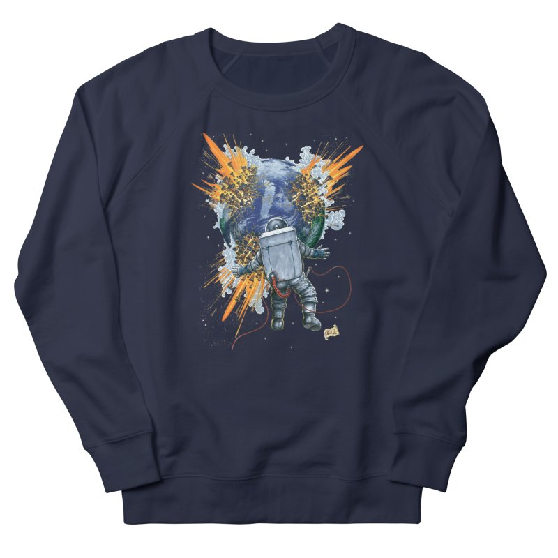 A Space Trifle Men's French Terry Sweatshirt by Ferran Xalabarder's Artist Shop