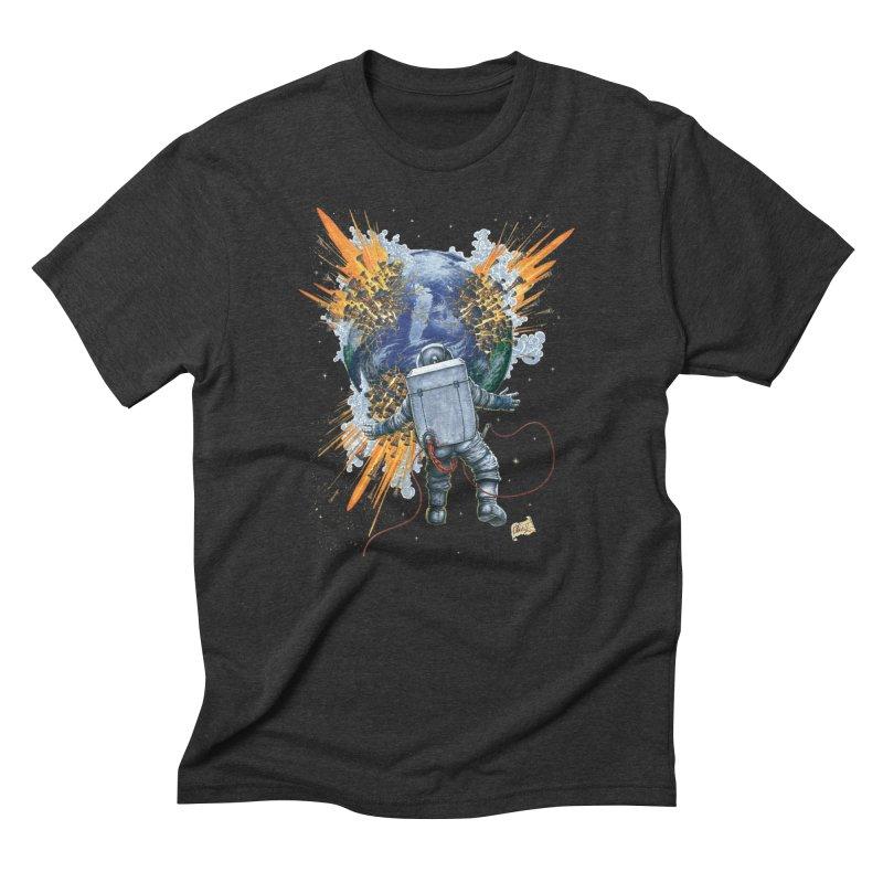 A Space Trifle Men's Triblend T-Shirt by Ferran Xalabarder's Artist Shop