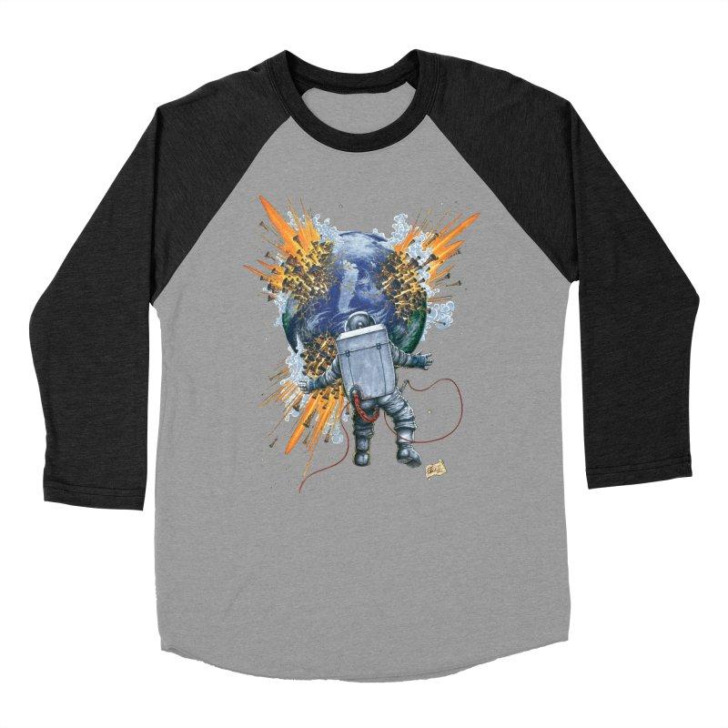 A Space Trifle Men's Baseball Triblend Longsleeve T-Shirt by Ferran Xalabarder's Artist Shop