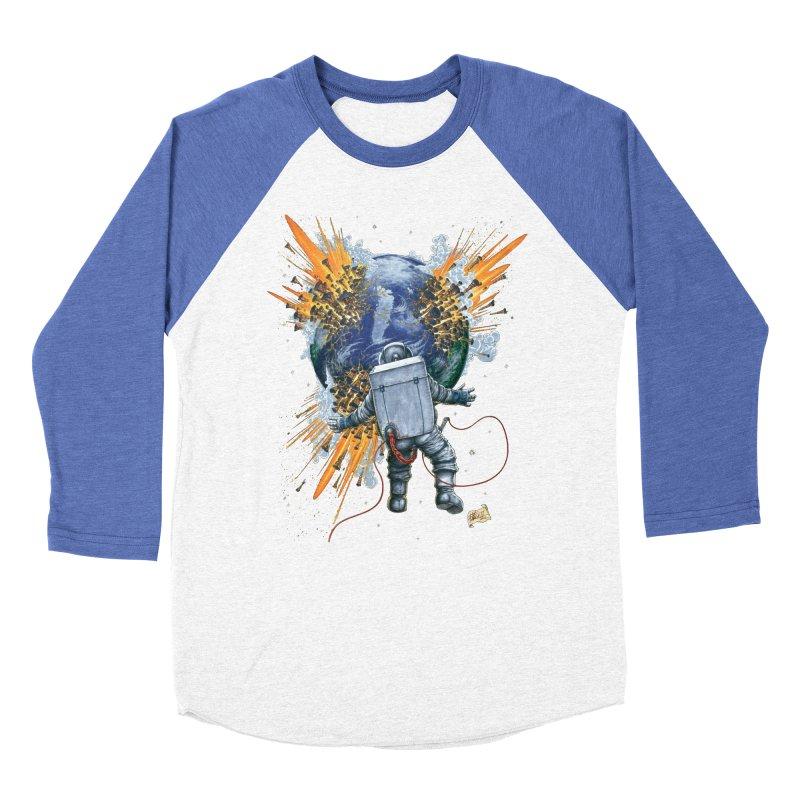 A Space Trifle Men's Baseball Triblend T-Shirt by Ferran Xalabarder's Artist Shop