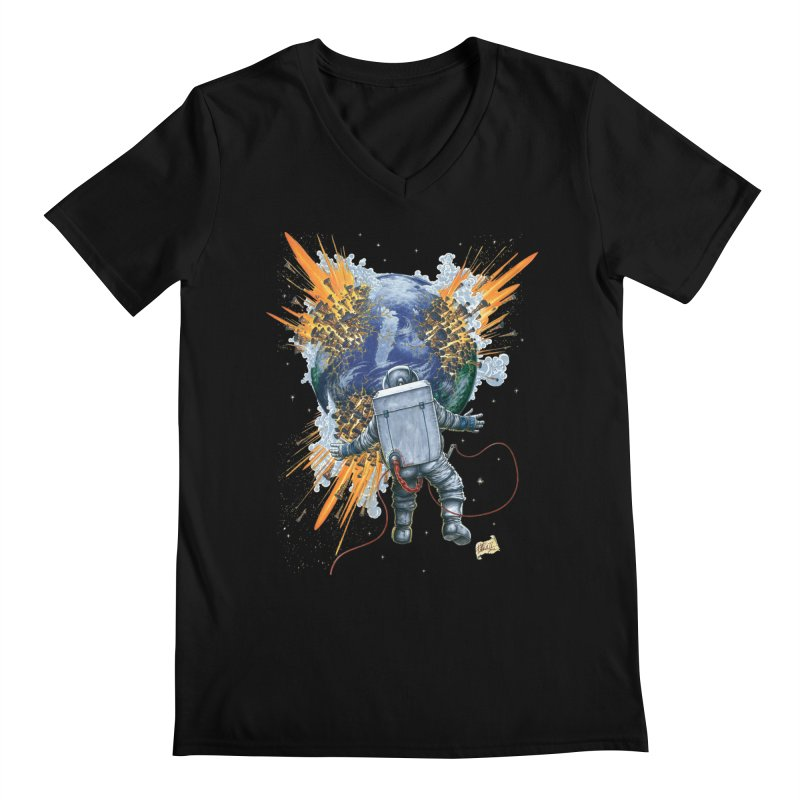 A Space Trifle Men's Regular V-Neck by Ferran Xalabarder's Artist Shop