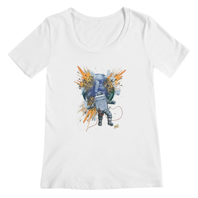 A Space Trifle Women's Scoopneck by Ferran Xalabarder's Artist Shop