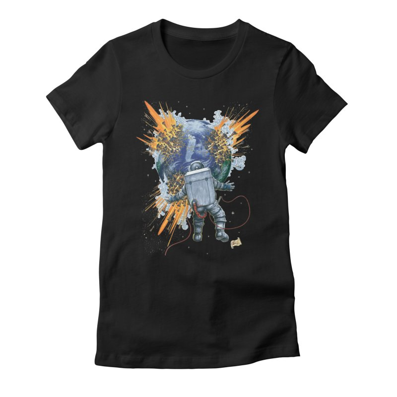 A Space Trifle Women's Fitted T-Shirt by Ferran Xalabarder's Artist Shop