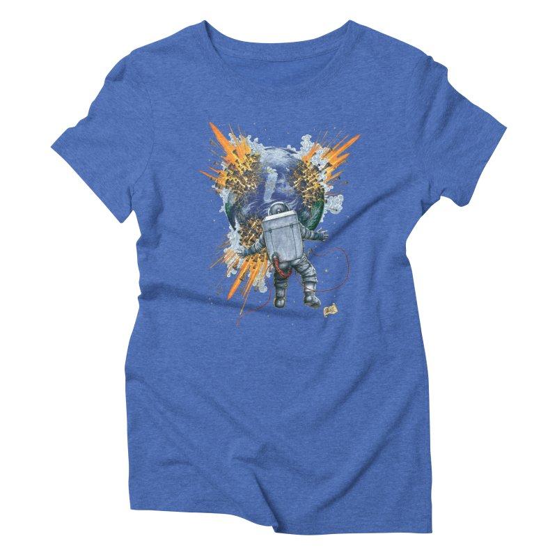 A Space Trifle Women's Triblend T-Shirt by Ferran Xalabarder's Artist Shop