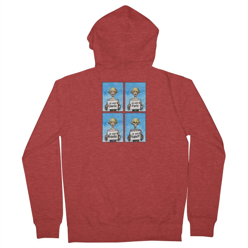 """Je Suis"" Natural Evolution Women's French Terry Zip-Up Hoody by Ferran Xalabarder's Artist Shop"