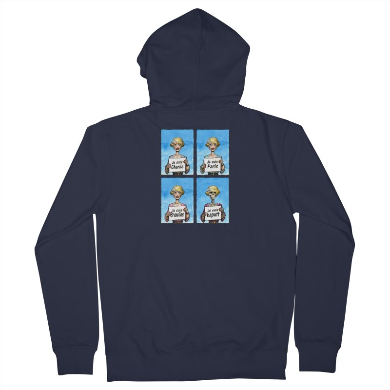 """""""Je Suis"""" Natural Evolution Women's French Terry Zip-Up Hoody by Ferran Xalabarder's Artist Shop"""
