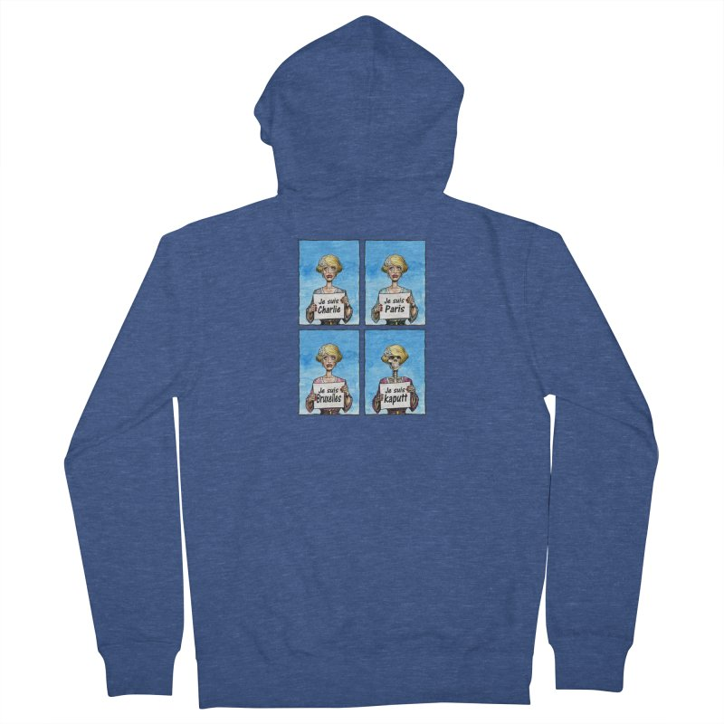 """Je Suis"" Natural Evolution Men's French Terry Zip-Up Hoody by Ferran Xalabarder's Artist Shop"