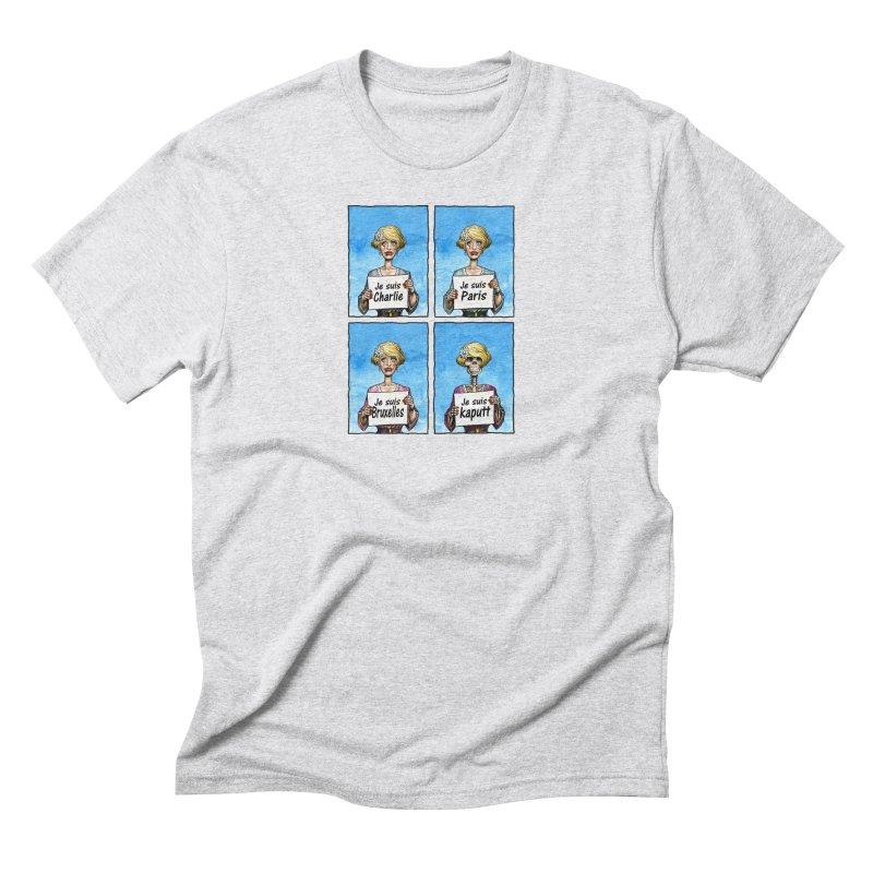 """Je Suis"" Natural Evolution Men's Triblend T-Shirt by Ferran Xalabarder's Artist Shop"