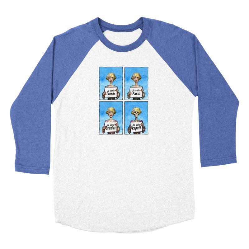 """""""Je Suis"""" Natural Evolution Women's Baseball Triblend T-Shirt by Ferran Xalabarder's Artist Shop"""
