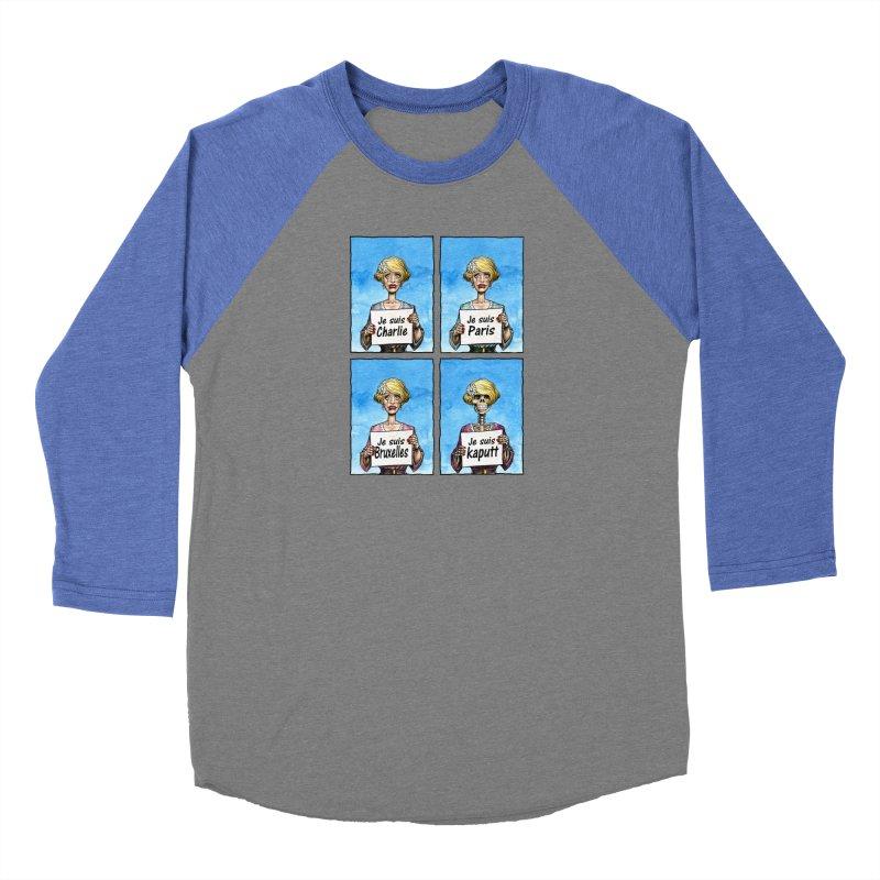 """""""Je Suis"""" Natural Evolution Women's Baseball Triblend Longsleeve T-Shirt by Ferran Xalabarder's Artist Shop"""