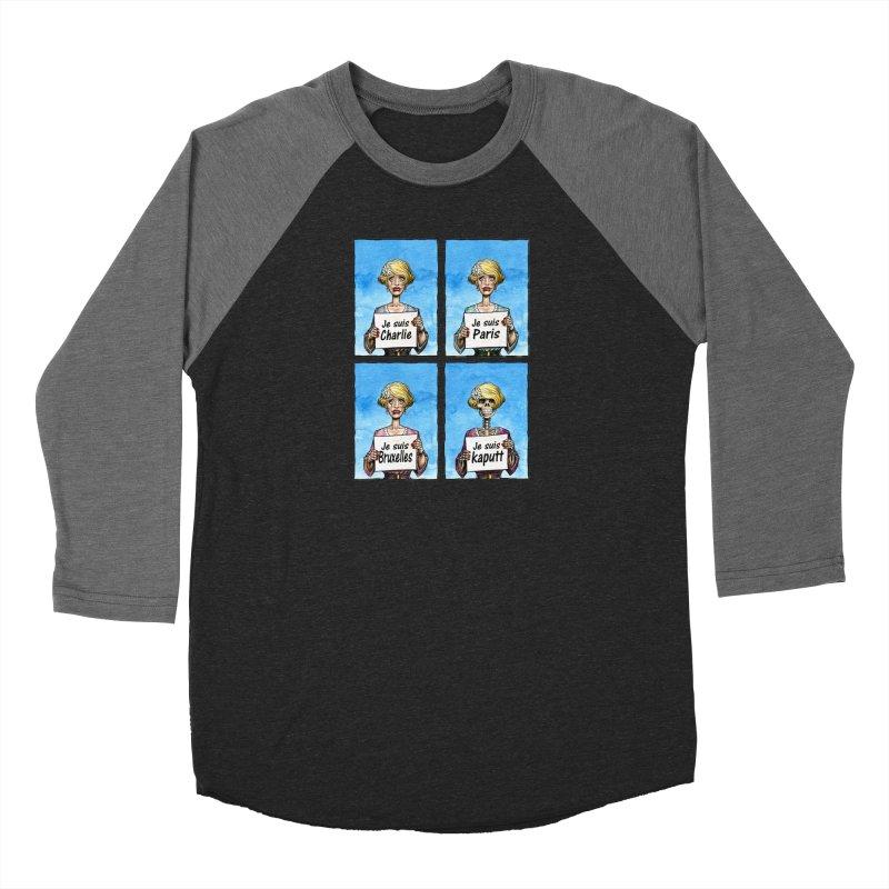 """Je Suis"" Natural Evolution Men's Baseball Triblend T-Shirt by Ferran Xalabarder's Artist Shop"