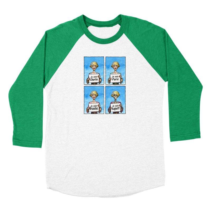 """""""Je Suis"""" Natural Evolution Men's Baseball Triblend Longsleeve T-Shirt by Ferran Xalabarder's Artist Shop"""
