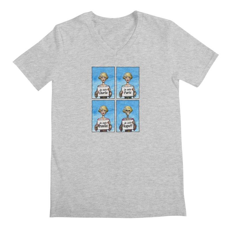 """""""Je Suis"""" Natural Evolution Men's V-Neck by Ferran Xalabarder's Artist Shop"""