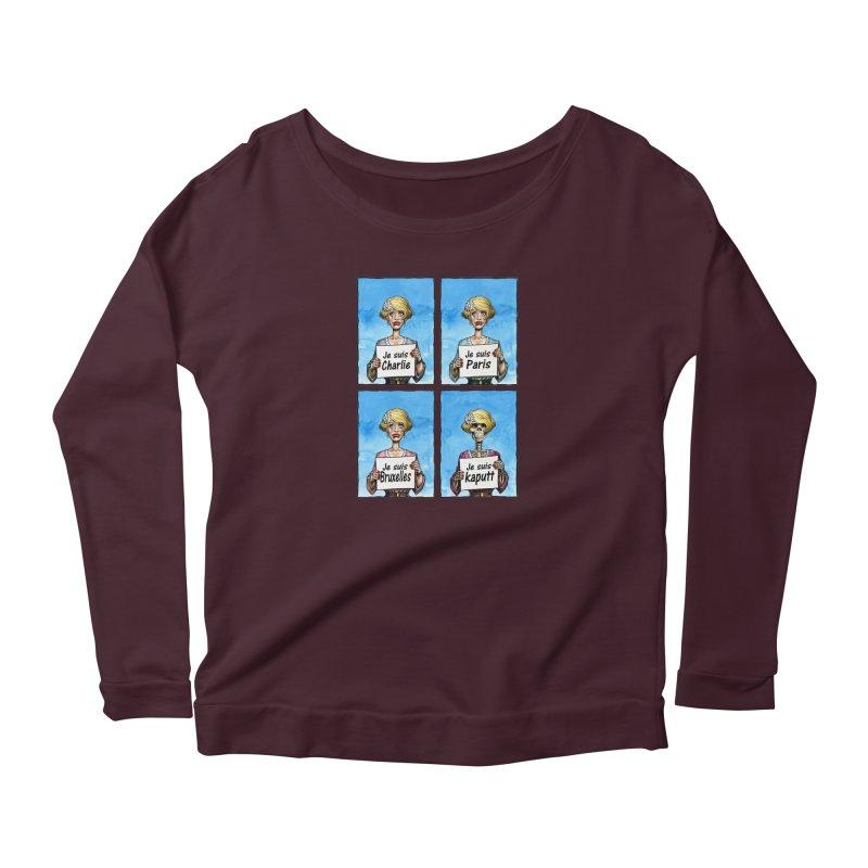 """Je Suis"" Natural Evolution Women's Scoop Neck Longsleeve T-Shirt by Ferran Xalabarder's Artist Shop"