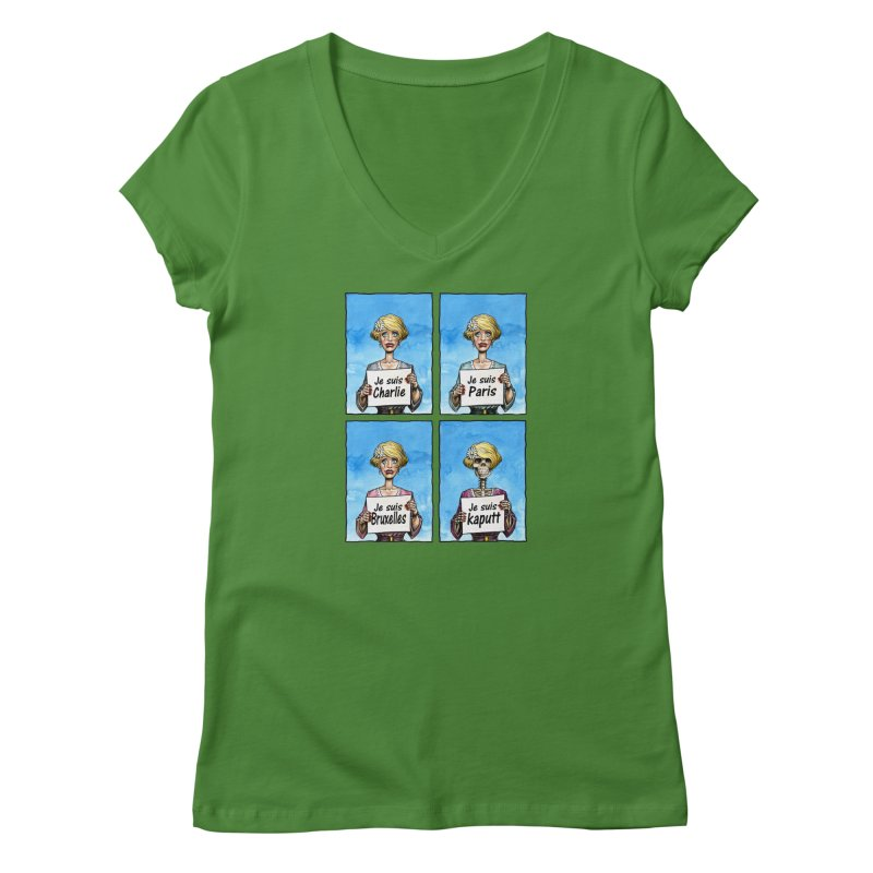 """Je Suis"" Natural Evolution Women's Regular V-Neck by Ferran Xalabarder's Artist Shop"