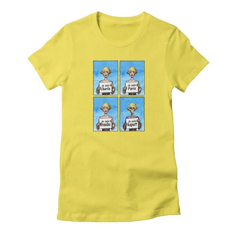 """Je Suis"" Natural Evolution Women's T-Shirt by Ferran Xalabarder's Artist Shop"