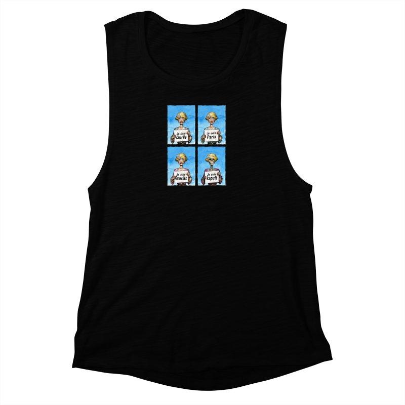 """Je Suis"" Natural Evolution Women's Muscle Tank by Ferran Xalabarder's Artist Shop"