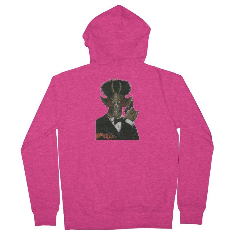 Born in Hell Women's Zip-Up Hoody by Ferran Xalabarder's Artist Shop