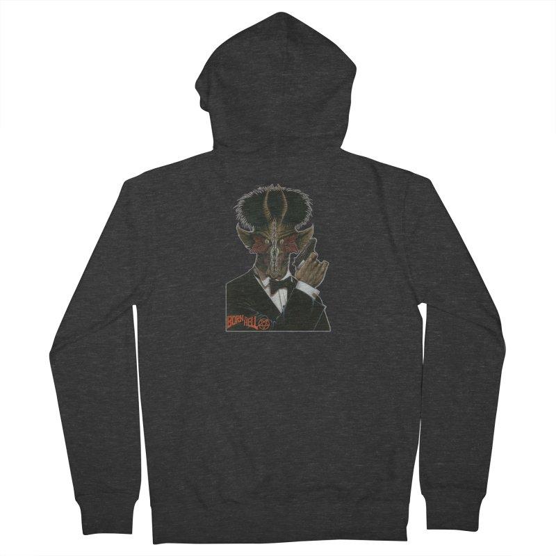 Born in Hell Men's Zip-Up Hoody by Ferran Xalabarder's Artist Shop