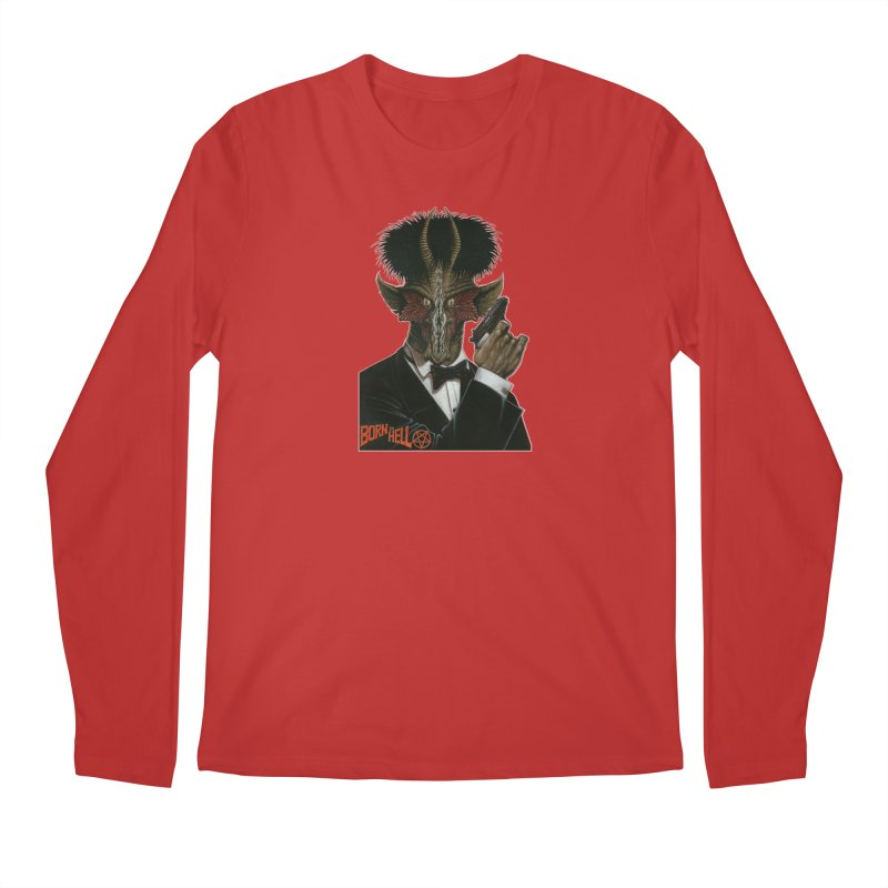 Born in Hell Men's Regular Longsleeve T-Shirt by Ferran Xalabarder's Artist Shop