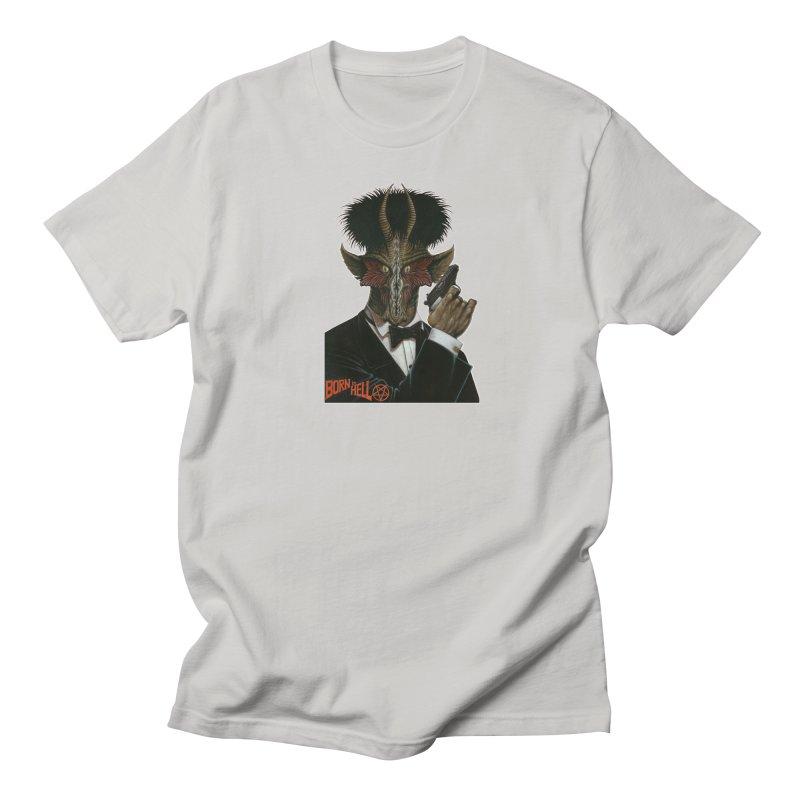 Born in Hell Women's Regular Unisex T-Shirt by Ferran Xalabarder's Artist Shop