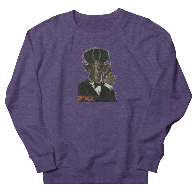Born in Hell Men's French Terry Sweatshirt by Ferran Xalabarder's Artist Shop