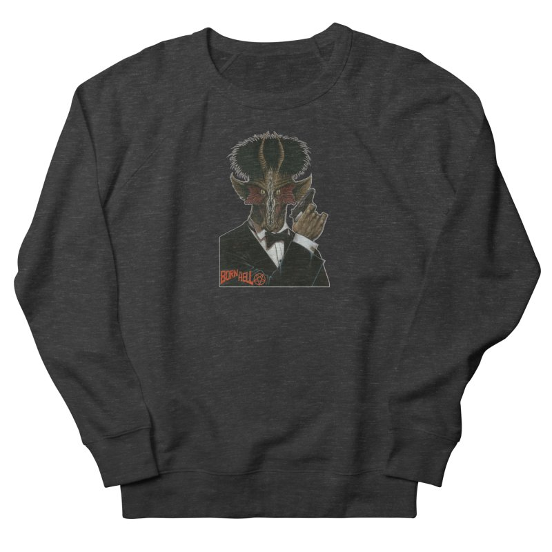 Born in Hell Men's French Terry Sweatshirt by Ferran Xalabarder's Artist Shop