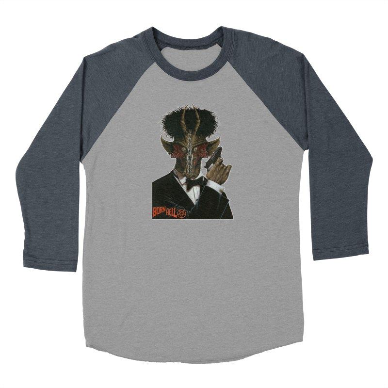 Born in Hell Women's Baseball Triblend Longsleeve T-Shirt by Ferran Xalabarder's Artist Shop