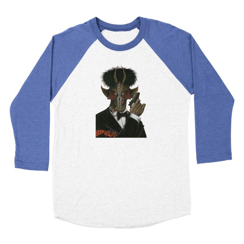 Born in Hell Men's Baseball Triblend T-Shirt by Ferran Xalabarder's Artist Shop
