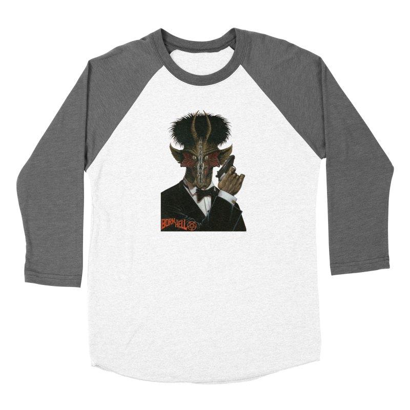 Born in Hell Men's Baseball Triblend Longsleeve T-Shirt by Ferran Xalabarder's Artist Shop