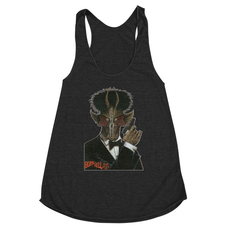 Born in Hell Women's Racerback Triblend Tank by Ferran Xalabarder's Artist Shop